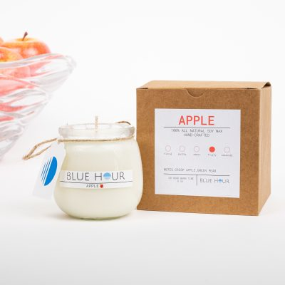 Blue hour candle appleWithBox