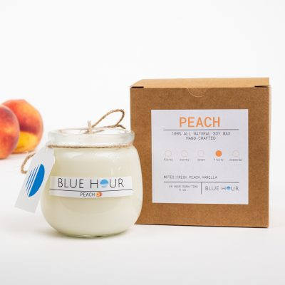 blue hour candle peachWithBox